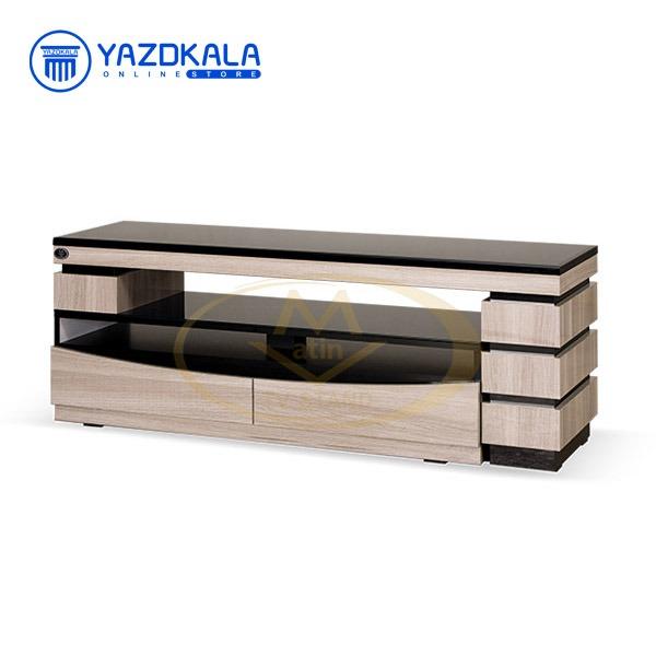 میز تلویزیون MDF متین مدل R90  با قابلیت تغییر سایز ، 140 سانتی