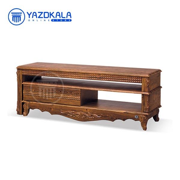 میز تلویزیون MDF متین مدل R712 با قابلیت تغییر سایز ، 140 سانتی