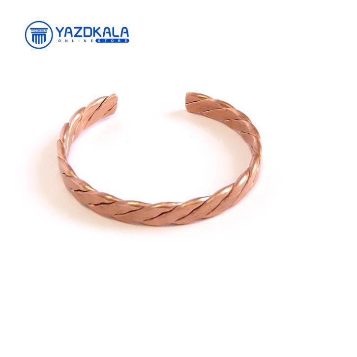 دستبند مسی بافت پهن