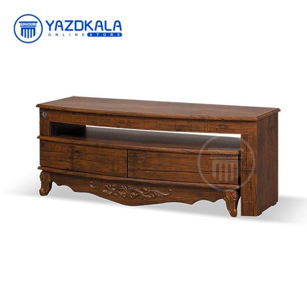 میز تلویزیون MDF متین مدل R114 با قابلیت تغییر سایز ، 120 سانتی