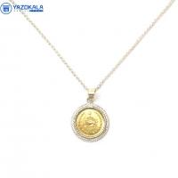 پلاک گردنی نقره  سکه 50 دیناری (بدون زنجیر)