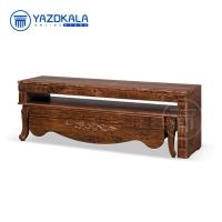 میز تلویزیون MDF متین مدل R706 با قابلیت تغییر سایز ، 140 سانتی