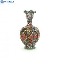گلدان سفالی میناکاری شده  کد 1210